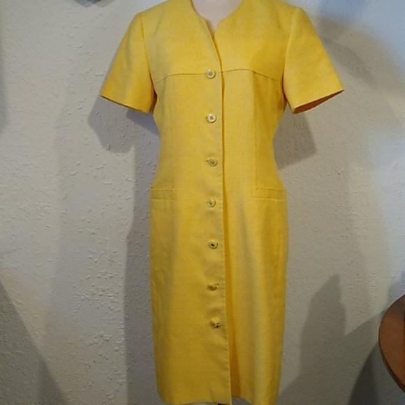 Kasper Dresses & Skirts - 80s Beautiful Vintage Yellow Dress